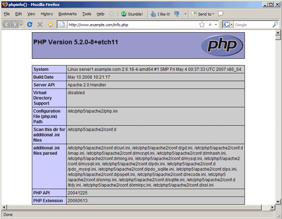 How to Specify php.ini for a Website Running in Apache