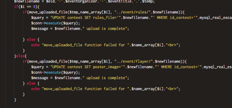 Multiple Files Simultaneous Upload Array Programming in PHP