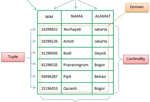 Model Data Relational