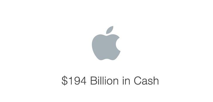 Apa yang dapat di beli apple dengan uang tunai $194 Triliun
