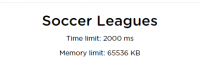 Programming Problem Test #Soccer Leagues