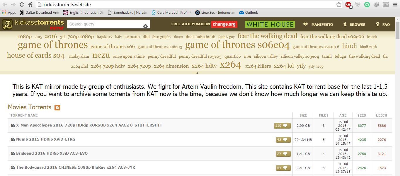 Situs Alternatif Kicakass Torrent